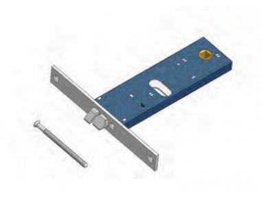 Scrocco 899 Omec Serratura Elettrica a Fascia per Alluminio