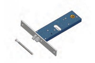 Scrocco 899/F22 Omec Serratura Elettrica a Fascia per Alluminio