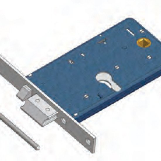 Scrocco Con Mandata 1777f22 Omec Serratura Elettrica A Fascia Per Allu