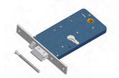 Scrocco con Mandata 1777/F22 Omec Serratura Elettrica a Fascia per Alluminio