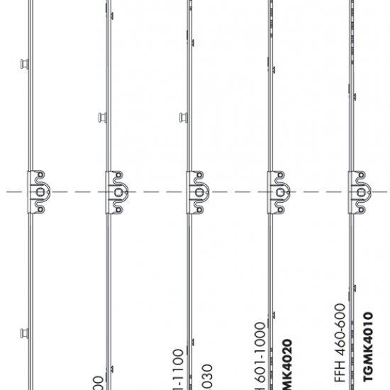 Ferramenta Cremonese Siegenia Titan 15 Af Gm Altezza Maniglia Variabil