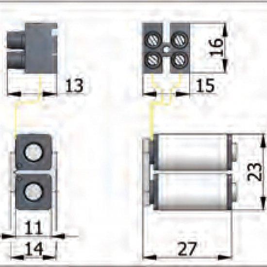Gruppo Bobine Omec Serratura Elettrica A Fascia Per Alluminio