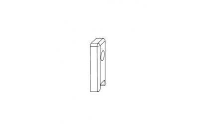 Riscontro A0767 per Fermo Scatto Comfort Accessorio Siegenia Titan