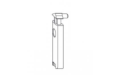 Fermo a Scatto Porta-Balcone Comfort Accessorio Siegenia Titan