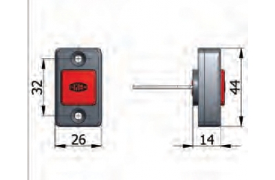 Pulsante Meccanico di Apertura Omec con Viti Serratura Elettrica a Fascia