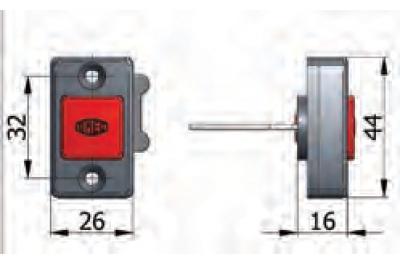 Pulsante Meccanico di Apertura Omec Fermo a Giorno con Viti Serratura Elettrica