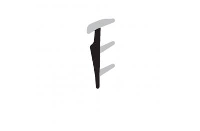 Guarnizione Fermavetro Complastex Spessori Sottili 2,5mm Scatola Bobina 200m