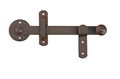 1720 Chiavistello con Quadro 8mm e Nottolino Galbusera in Ferro Battuto