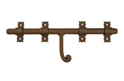 1890 Catenaccio Orizzontale Galbusera in Ferro Battuto Varie Dimensioni