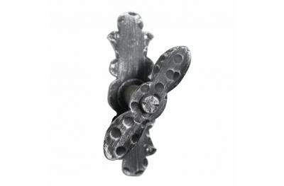 2103 Maniglia Ornamentale Martellina in Ferro Battuto per Finestra Lorenz Ferart