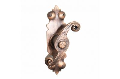 2118 Maniglia Arts Crafts Martellina in Ferro Battuto per Finestra Lorenz Ferart