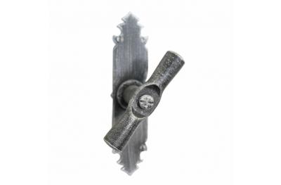 2122 Maniglia Cilindrica Martellina in Ferro Battuto per Finestra Lorenz Ferart