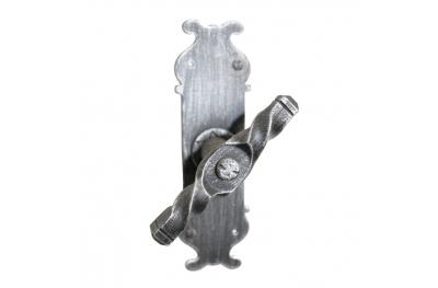 2123 Maniglia a Spirale Martellina in Ferro Battuto per Finestra Lorenz Ferart