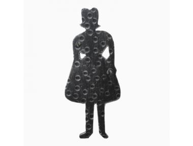2207 Segnale Forma Donna in Ferro Battuto per Bagno WC Femminile Lorenz Ferart