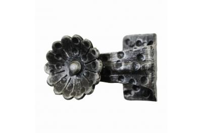 2262 Pomolo con Fiore in Ferro Battuto per Porte Lorenz Ferart