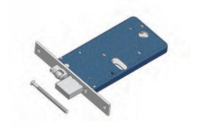 Catenaccio e Rullo Regolabile 875 Omec Serratura per Fascia Meccanica Alluminio