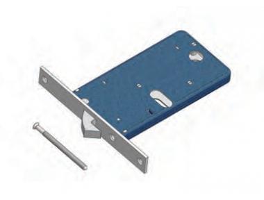 Gancio 376 Omec Serratura Meccanica per Fascia Alluminio