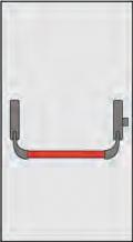 Maniglione Antipanico Omec Composizione per Porte ad un'Anta Chiusura un Punto