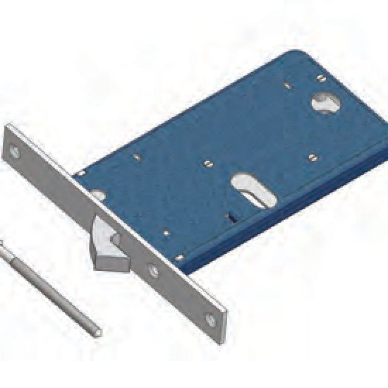 Gancio 776f22 Omec Serratura Meccanica Per Fascia Alluminio