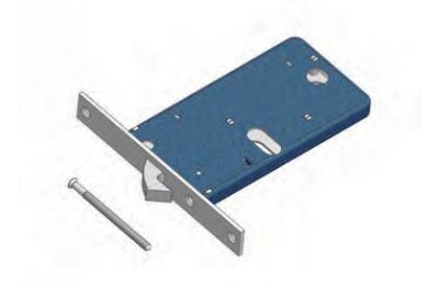 Gancio 776/F22 Omec Serratura Meccanica per Fascia Alluminio