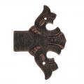 3009 Fine Cerniera Decorativa per Ante e Mobili in Ferro Battuto Lorenz Ferart