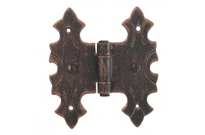 3071 Cerniera Doppia per Ante e Mobili in Ferro Battuto Lorenz Ferart