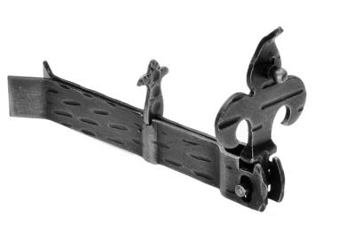 315 Fermapersiane Giglio 170x30x18mm Zanca a Murare Galbusera in Ferro Battuto