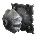 3180 Maniglia Pomolo Rotondo in Ferro Battuto per Mobili Lorenz Ferart