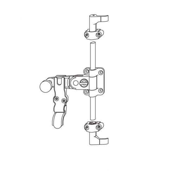 Spagnoletta G U Maniglia Lunga 1 2 Ante Con Griffe H15mm Senza Asta