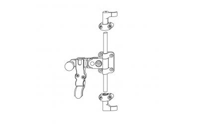 Spagnoletta G-U Maniglia Lunga 1-2 Ante con Griffe h=15mm Senza Asta