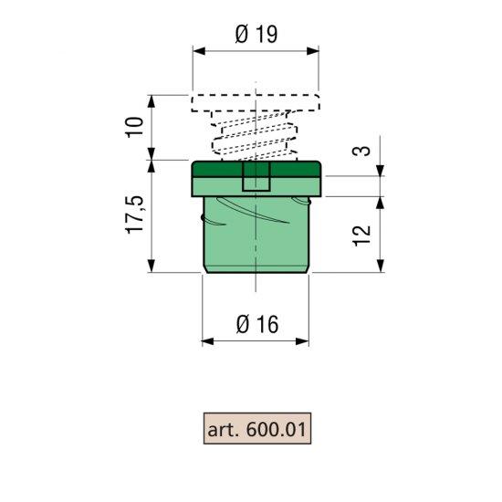 Distanziatore Proni Rapid Block Zp Serie 600 Corpo Di Zama