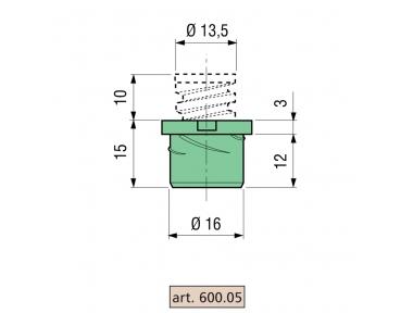 Distanziatore Proni Rapid-Block Z/P Serie 600 Corpo di Zama