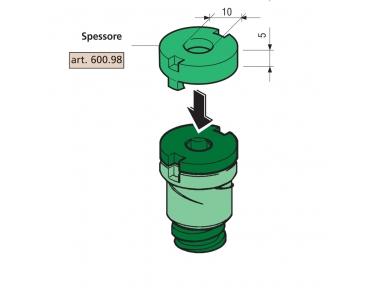 Spessore 5mm Proni per Distanziatori Compatibile Serie 600 e 800
