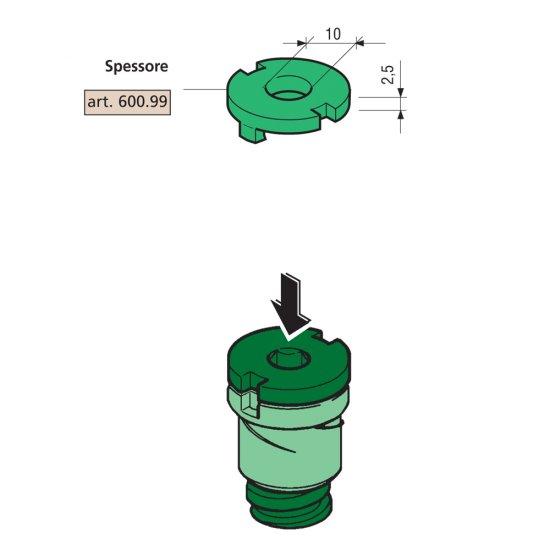 Spessore 25mm Proni Per Distanziatori Compatibile Serie 600 E 800