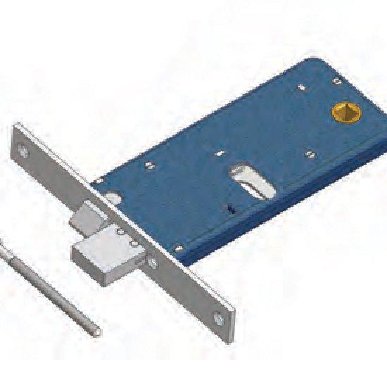 Catenaccio E Scrocco 882 Omec Serratura Per Fascia Meccanica Alluminio