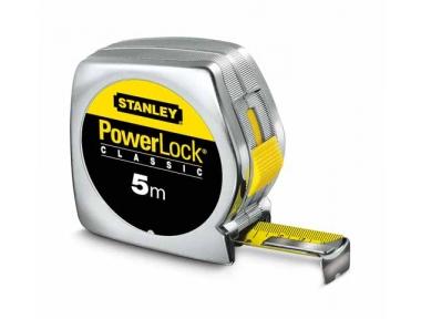 Powerlock Stanley Flessometro Utensile Cassa in Materiale Sintetico 5m