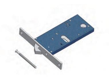 Gancio 386 Omec Serratura Meccanica per Fascia Alluminio