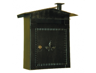 6002 Cassetta Postale con Tetto e Caminetto in Ferro Battuto Artigianale Lorenz