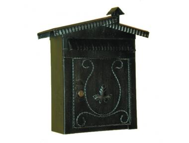 6008 Cassetta Postale con Tetto e Caminetto in Ferro Battuto Artigianale Lorenz