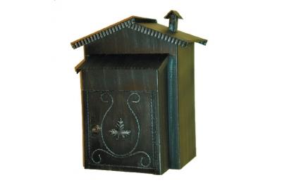 6009 Cassetta Postale con Tetto e Caminetto in Ferro Battuto Lorenz Ferart