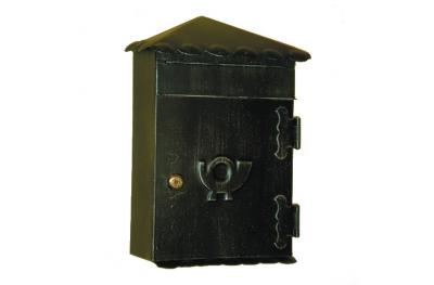 6011 Porta Lettere con Tetto in Ferro Battuto Artigianale per Buste Lorenz