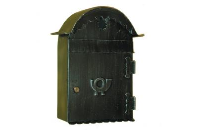 6012 Porta Lettere con Tetto Curvo in Ferro Battuto Artigianale per Buste Lorenz