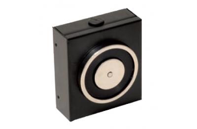 Elettromagnete di Trattenuta Nero 140 Kg senza Pulsante di Sblocco 18100 Opera