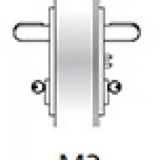Kit Ninz Maniglia Emergenza M3 Per Porte Tagliafuoco Plastica Nera S60