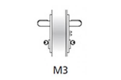 Kit Ninz Maniglia Emergenza M3 per Porte Tagliafuoco Plastica Nera s=60mm