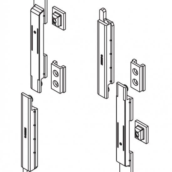 Catenacci Giap Per Finestre Giesse Serie R40 Silver Plus Coppia
