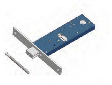 Catenaccio Regolabile 391 Omec Serratura per Fascia Meccanica Alluminio