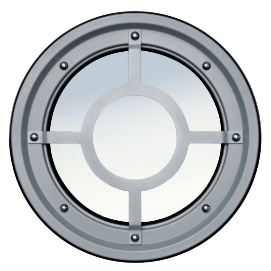 Inferriata Oblò Metallici Acciaio Inox Tipo B Rialzata Aisi 304
