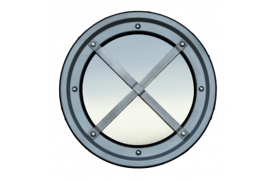 Inferriata Oblò Metallici Acciaio Inox Tipo C Rialzata AISI 304