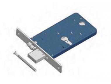 Catenaccio e Rullo Regolabile 1775 Omec Serratura per Fascia Meccanica Alluminio